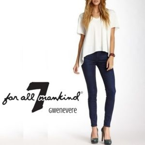 7 for all mankind gwenevere skinny jeans 31